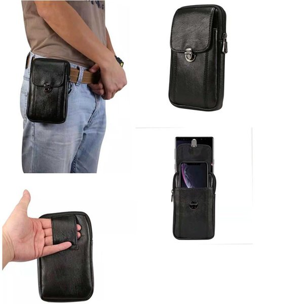 Universal PU Leather Cell Phone Purse Waist Pack Bag For Moblie Phone Carrying Cases Belt Bag Pouch For iPhone Xs Max Samsung Note9 OPP