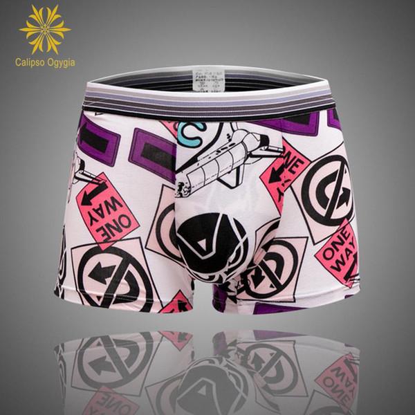 3Pcs Mans Man Sexy Short Bulge Pouch Underpants Men's Boxer 17 Print Styles Fashion Sexy Soft Underwear Boxers Cheap Free ship