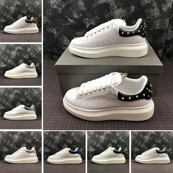 Размер 35-44 Высочайшее Качество Новая Мода Роскошный Дизайнер Женщины Белый Повсе