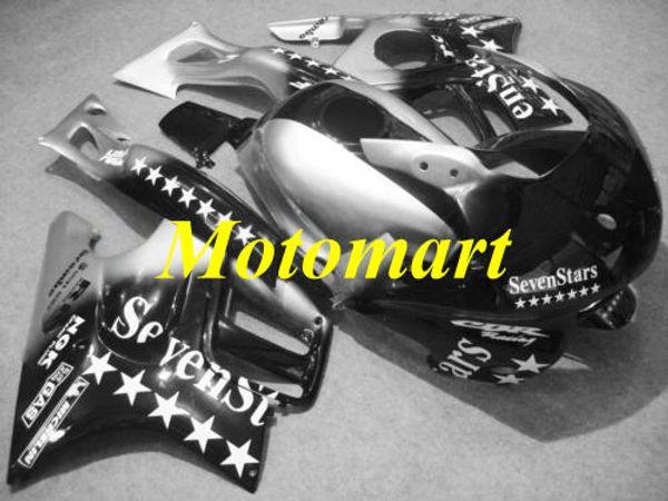 Kit de carenado de motocicleta para HONDA CBR600F3 95 96 CBR 600 F3 1995 1996 ABS Plateado negro carenados + regalos HG01