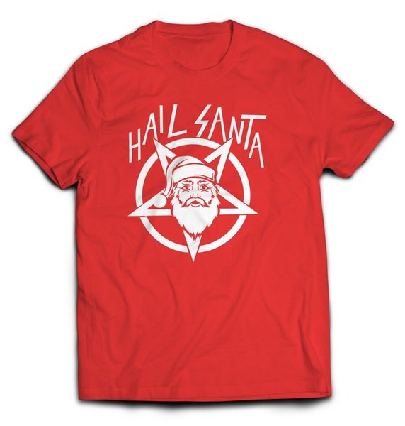 HAIL SANTA T-shirt Christmas Metal Funny tee vintage hipster xmas holidayFunny free shipping Unisex Casual Tshirt top