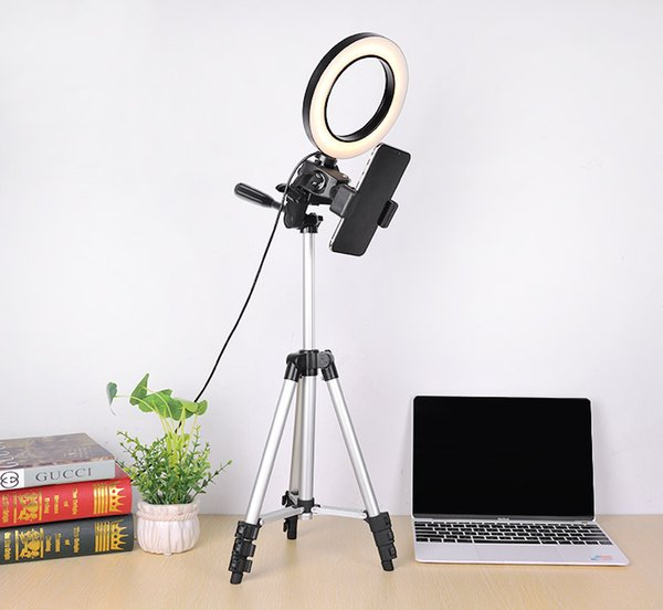 Câmera Photo Studio Telefone Vídeo LED Beauty Ring Light Fotografia Regulável Lâmpada Anel + Tripé para Selfie / Live Show / Fill-in Light
