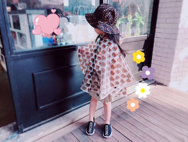 best selling kids raincoats for girls for waterproof windproof rainwear hat eaves design breathable comfortable high quality poncho raincoat