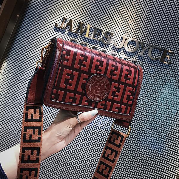 Mulheres F Carta Bolsas de Ombro Bolsas Vintage Bolsas Bolsas de Ombro Largo Alça PU FF Impresso Saco Do Mensageiro Bolsa Dia Das Mães Presente HOT C42402