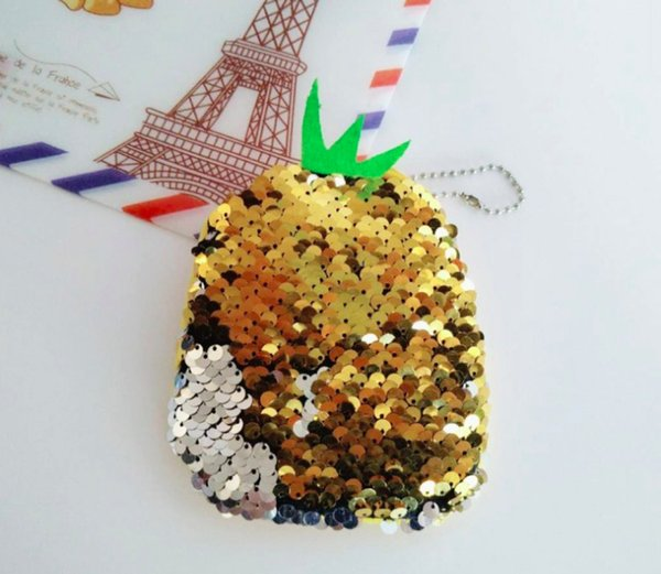 4 Pieces Cute Bling Shining Change Coin Purse Cash Bag Small Wallets Wallet Bag Pouches Dollar Gifts with Zipper