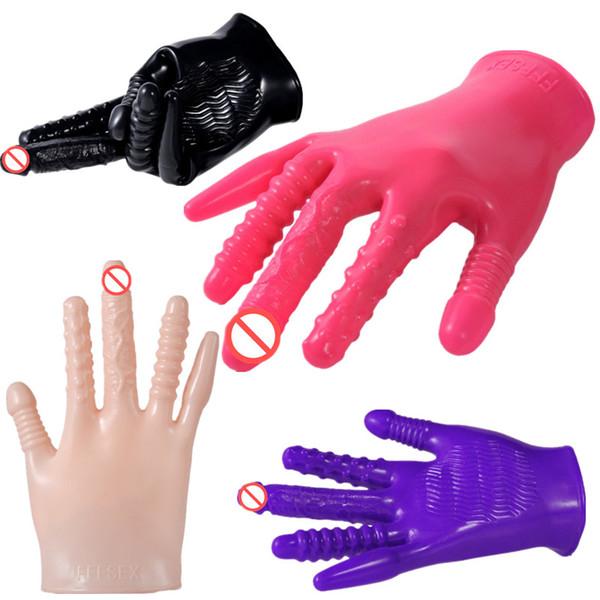 Magic Palm Рука Вибрирующие Перчатки Тела Грудь Соска Массажер Секс-Перчатки Стимулятор Влагалища Взрослых Флирт Секс-Игрушки для Женщин Мужчин A1-235