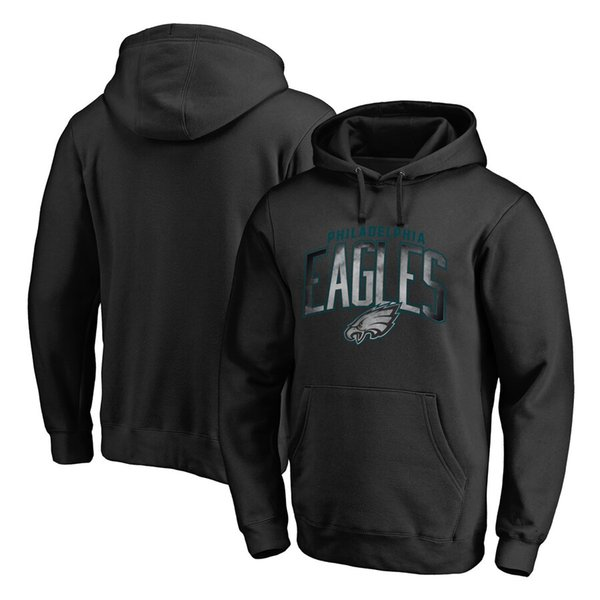 PhiladelphiaEagles NFLPro Line by Fanatics Branded Big & Tall Arch Smoke Pullover Hoodie - Black