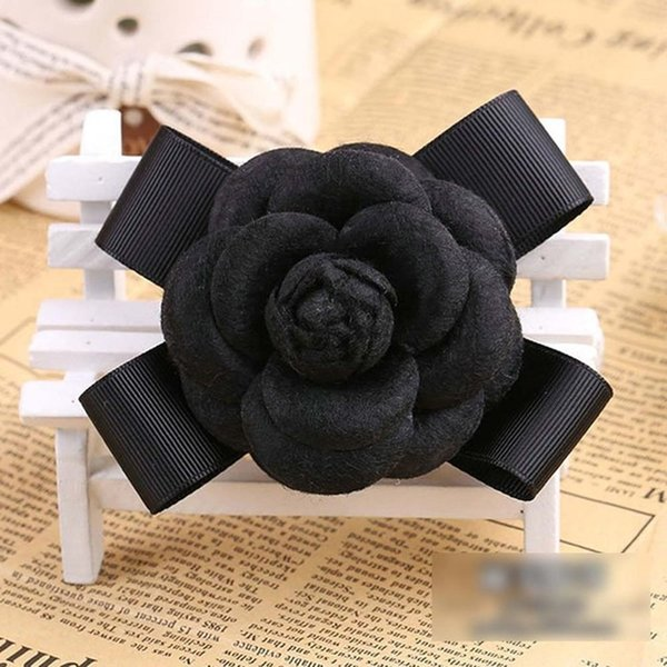 Black Wool Bow