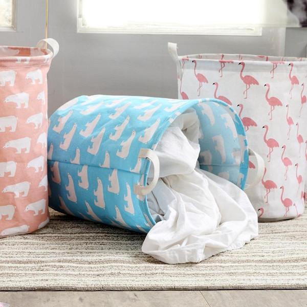 Caja de almacenamiento de ropa Flamingo Cesta de lavandería plegable Impermeable Ropa sucia Lavado Cestas de lavandería Bolsa de almacenamiento Organizador BC BH1230
