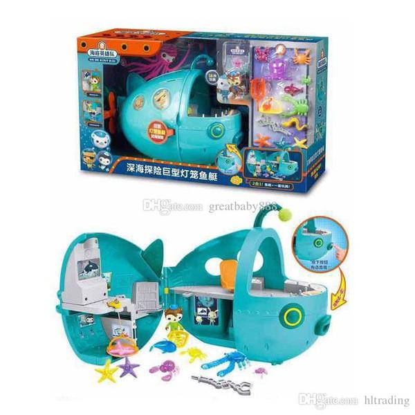 Octonautes Super lanterne Poisson sous-marins figurines Filles Garçons dessin animé Navire modèle jouets ensembles Enfants Toya C3241