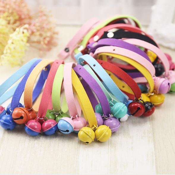 Nice Color Pure hand made light of candy color cat collar dog collar pet supplies teddy bell bell around the neck collar for wholesale price