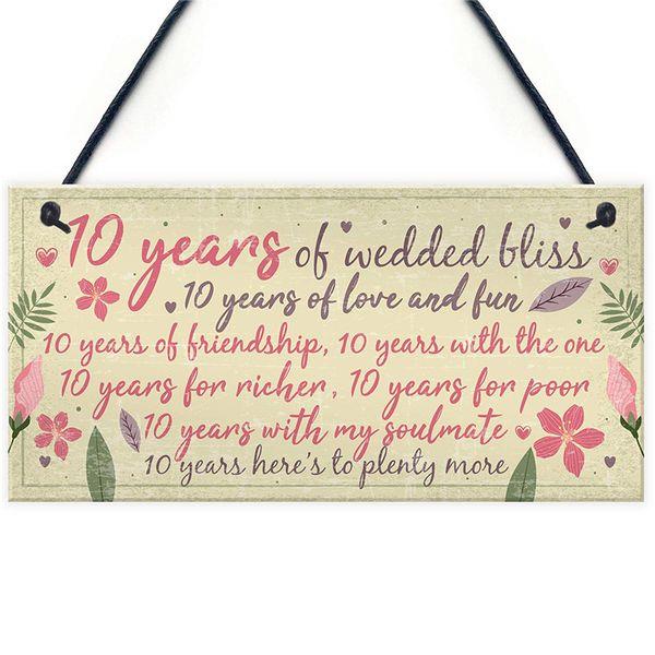 Großhandel 10 Hochzeitstag Karte Geschenk Für Ehemann Frau Zehn Jahre Für Sie Von Kaishihui 1528 Auf Dedhgatecom Dhgate