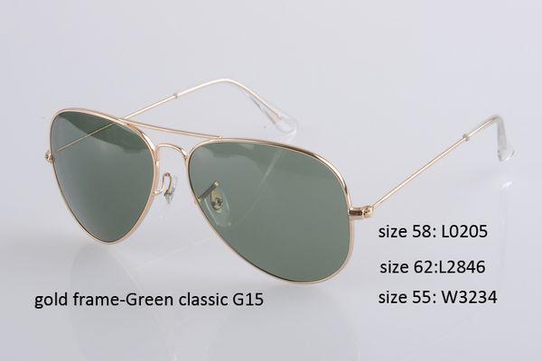 Золотая оправа - зеленый объектив G15