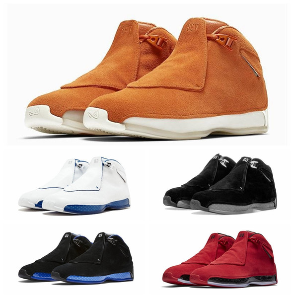 34cbc7e6d439 Newest Blue Yellow Orange Suede 18s Basketball Shoes Defining Moments Mens  Toro Red Black Royal 18