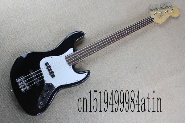 Free Shipping Factory custom shop New Style Top quality jazz electric bass 4 strings BLACK COLOR electric guitar stock