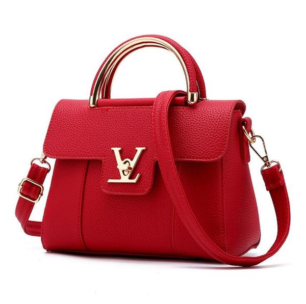 Fashion Designer Womens Handbag PU Leather Bags Handbags Ladies Portable Shoulder Bag Office Ladies Hobos Bag Totes T05