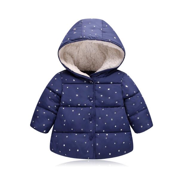 Inverno di buona qualità di spessore ragazzi cappotti moda stile cotone con cappuccio giacche per bambini tuta sportiva dowm parka bebe ragazze snowwear