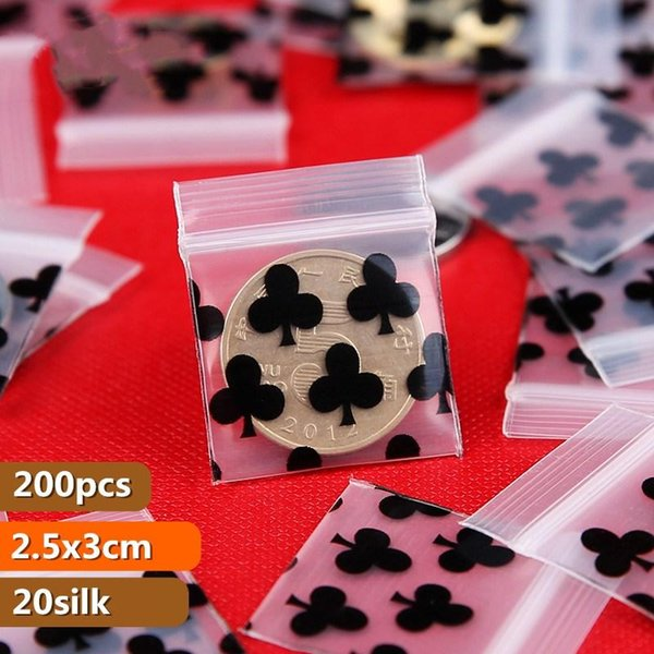 HARDIRON Mini PE Zip Lock Bags Small Items Storage Bag Plastic Packaging Pouch Earring Ring Pendant Packaging Bags