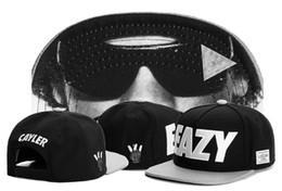 New Fashion schwarz EAZY Logo Cayler Sons Snapbacks Herren Damen Caps Hip Hop verstellbare Snapback Baseball Cap