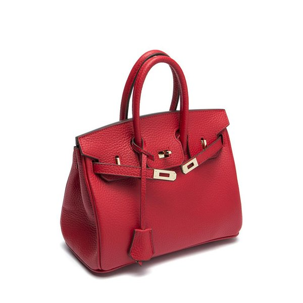 Fashion Top Full Leather Shoulder Bag Handbag Tote Pure Girl Woman 2019 Free Shipping