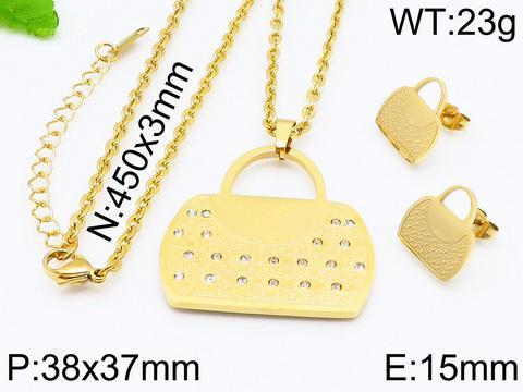 Новый роскошный ювелирный горячая сторона из нержавеющей стали серебра золота набор 18k золота очаровывает женщин ювелирные изделия