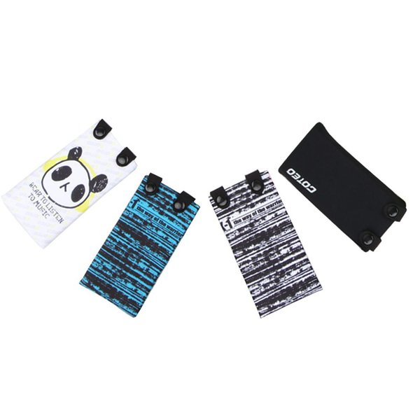 Wrist Bag Elastic Cartoon Arm Band Mobile Phone Case Cover with Headphone Hole for Jogging Running Fitness 7 Inch