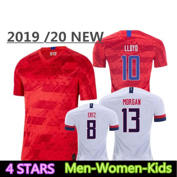 2019 2020 USA PULISIC maillot de football 19 20 DEMPSEY BRADLEY ALTIDORE WOOD Amérique Maillots de football États-Unis Shirt Camisetas Thai qualité