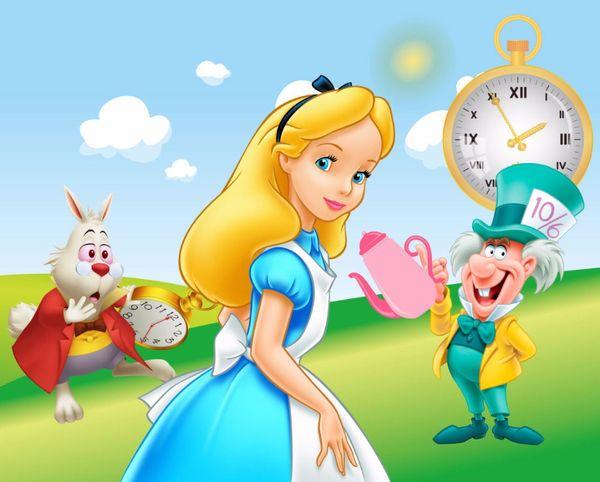 2020 7x5ft Alice Wonderland Green Grass Garden Rabbit Clock Fairy