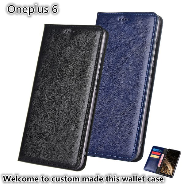 QX13 Gneuine Leather Wallet Phone Bag With Card Holders For Oneplus 6 Phone Case Kickstand For Oneplus 6 Phone Pouch