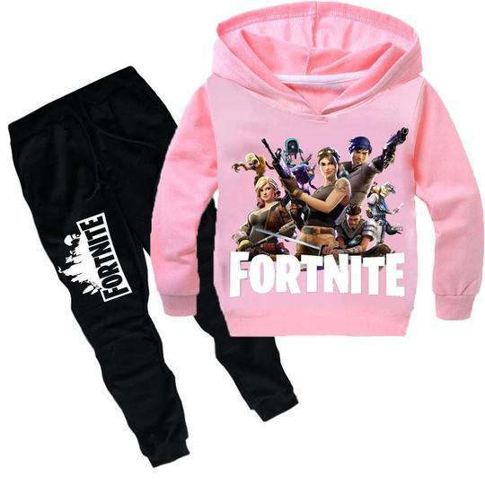 2019 Fortnite Tracksuit For Teenage Kid Clothing Set Fornite Big Boy Girl Hooded Sweater Shirt+Trouser Pant 2PC Outfit Children Suit