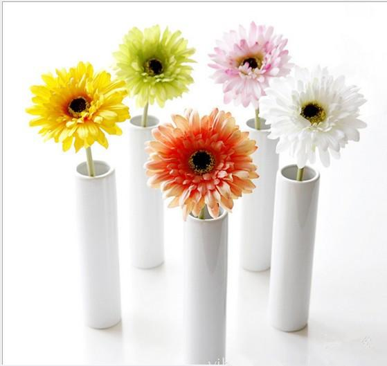 Artificial Flowers For Wedding Home Chrysanthemum Simulation Sunflower Fake Craft Flowers For Home Ornament Wedding Decoration Supplies