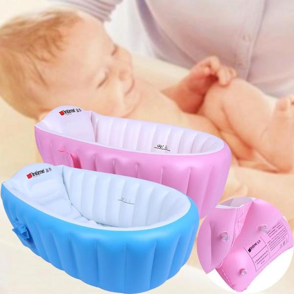 Baby BathTub Kids Bathtub Portable Inflatable Cartoon Safety Thickening Washbowl Baby Bath for Newborns Swimming Pool props