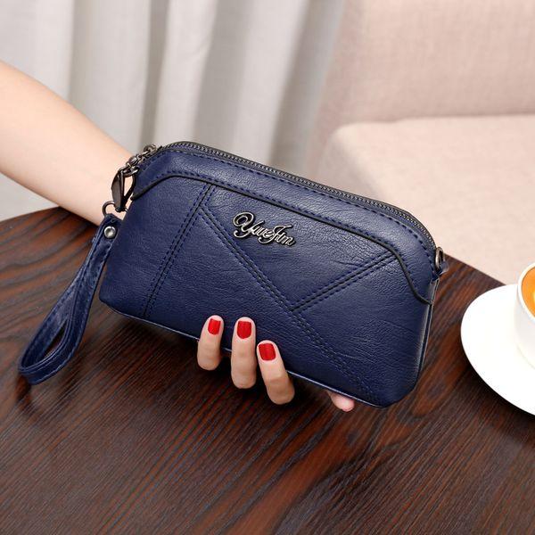 Frauen New 2019 Umhängetasche Korean Sheepskin Shell Clutch-Bag Lady Fashion Weiches Leder PU Dual-Use-Beutel-Qualitäts-Großhandel B101877Y