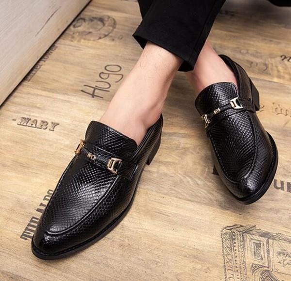 Высокое качество весной моды итальянские Luxe мужская повседневная обувь элегантный кожаный коричневый уникальный дизайн бизнес обувь B61