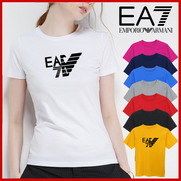 2019 new brand fashion luxury designer womens t shirts Summer Short Sleeve T Shirts Emboridered Crewneck Casual Tops