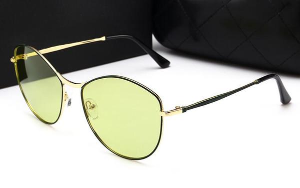 новый тренд океан кусок очки женщина ретро поляризованные солнцезащитные очки 88016 мода конфеты цвет солнцезащитные очки с оригинальными чехлами и коробкой