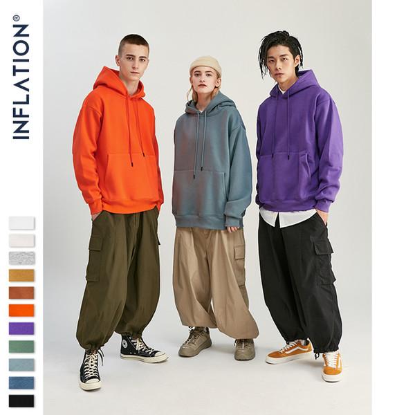 New men's sweater 2019 Autumn Mens Thick Fleece Hoodies Hip Hop Pure Hoodies Thick Velvet Fabrics Winter Hoodies For Men Women 167W17