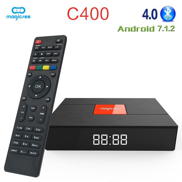 Magicsee C400 DVB - T2 / S2 / C TV Box Android 7.1 Amlogic S905D 2GB RAM 16GB ROM WiFi Set Top Box Bluetooth 4K Media Player