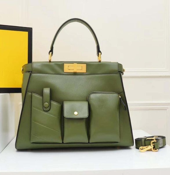 designer luxury handbags shoulder crossbody bags fashion lady F letter rivet women purse artwork cowhide genuine leather oo12