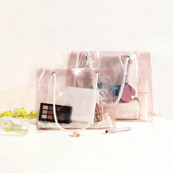 1pc Waterproof Swimming Bags Female PVC Transparent Sports Travel Storage Bag Large Capacity shoes bag Shoulder Beach Bag #963375