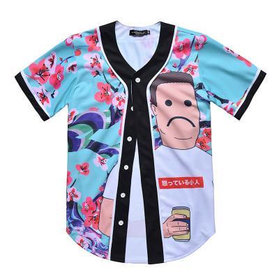 Nuevo estilo Hombre Camisetas de béisbol Camisas deportivas Moda 3D con botón Buena calidad 40