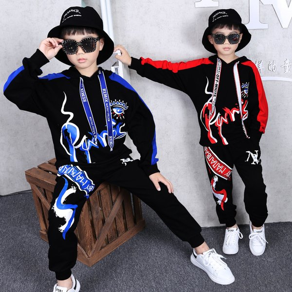 Baby Boy Clothing 2019 Kids Spring Sets Latest Casual Trend Long-sleeve Hip-hop Sports Two-piece Suit Christmas Birthday Gift