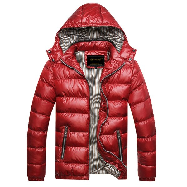Autumn Winter Hooded Jacket Men Parka Quilted Padded Wadded Windbreaker Male Mens Jackets And Coat Parkas Overcoat M220