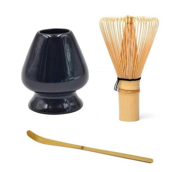 Giapponese Bamboo Matcha frusta pennello professionale tè verde in polvere frullare Chasen cerimonia del tè Bamboo Brush Strumento Grinder T190704