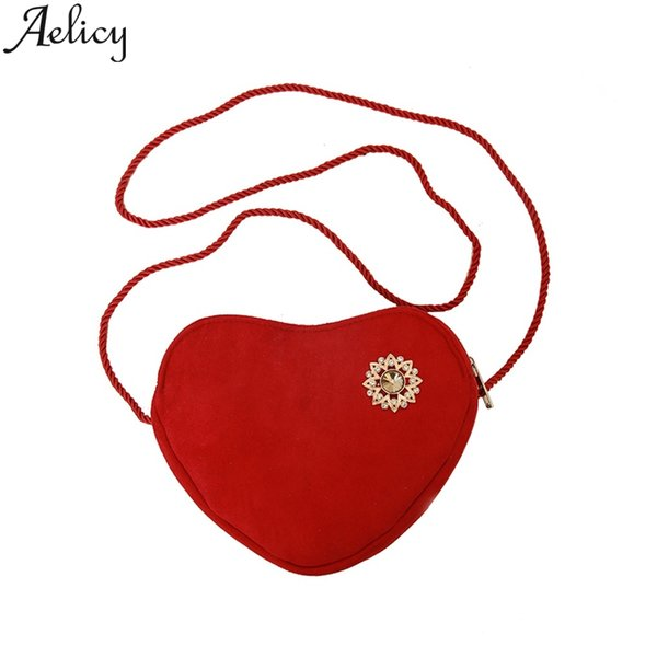 Aelicy Female Crossbody Bags For Women 2019 High Quality Women's Traditional Rhinestone Fashion Love Bags Shoulder Messenger Bag