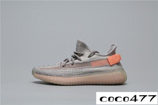 роскошный дизайнер мужчины женщины V210 зебра статический крем кунжут Kanye West og Clay True Form гиперпространство 3M Wave кроссовки кроссовки
