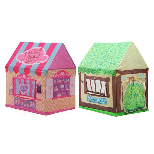 Pink Green Store Play Tent Casta House For Kids Kids Baby Kids Toy Play Tents Tunnel House Para regalo de Navidad