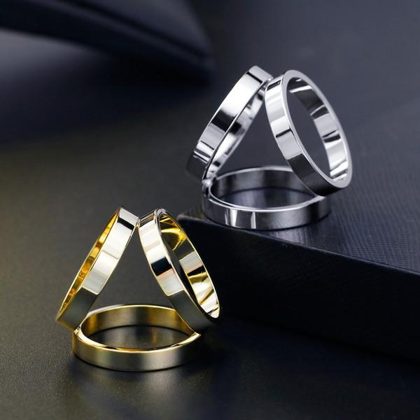 Koreanische Version einfach aus reinem Kupfer drei Ring Schal Schnalle High-End-Kupfer Schal Schnalle Bank Schal drei Ring Zubehör benutzerdefinierte