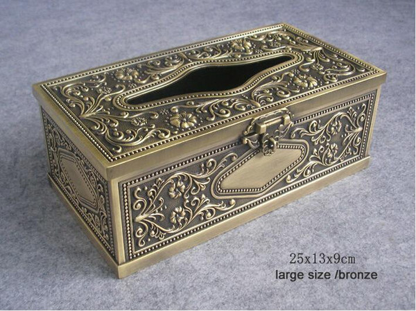 Marvelous 2019 Luxury Vintage Classic Bronze Alloy Tin Metal Rectangle Tissue Box Dispenser Napkin Toilet Paper Holder Tissue Box Cover 349L From Walkerstreet Pdpeps Interior Chair Design Pdpepsorg