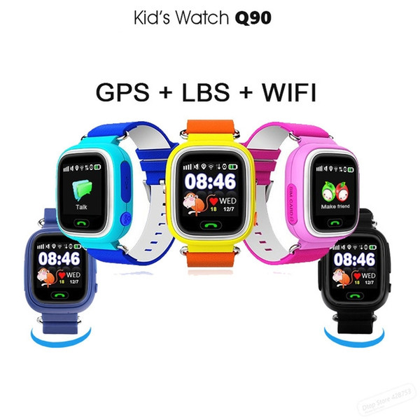 Smart Watch Q90 Child Smart Watch with Touch Screen WiFi GPS SOS Children caller location for Insurance Child anti Lost PK Q528 Q50